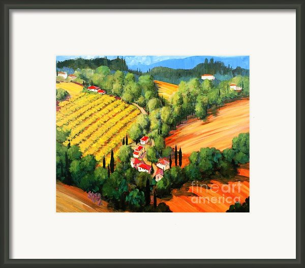 Chianti Road Framed Print By Michael Swanson