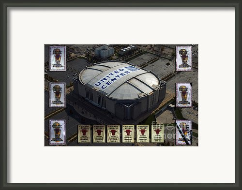 Chicago Bulls Banners Framed Print By Thomas Woolworth