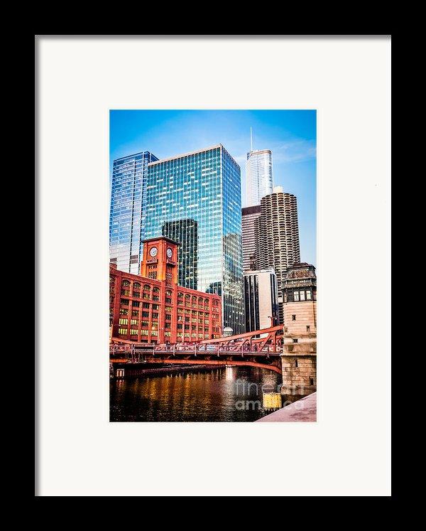 Chicago Downtown At Lasalle Street Bridge Framed Print By Paul Velgos