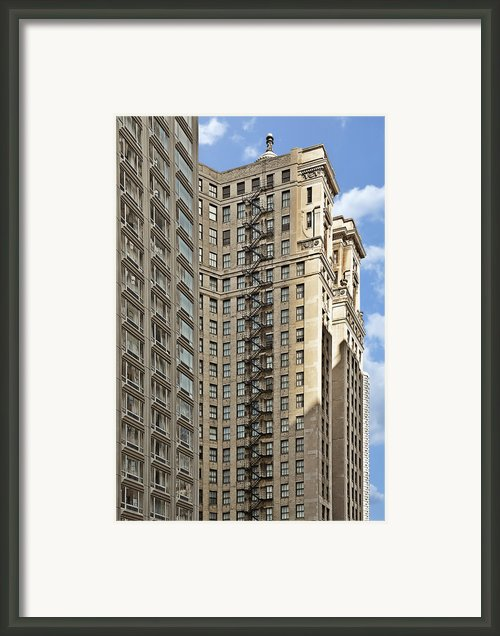 Chicago - Emergency Fire Escape Framed Print By Christine Till