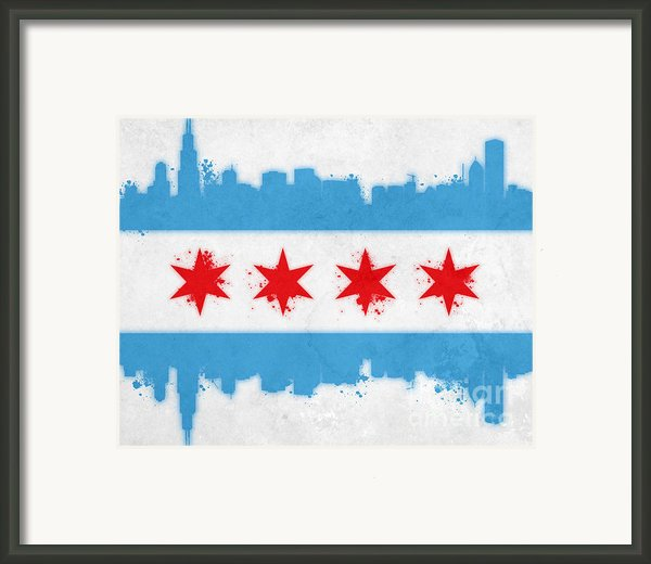 Chicago Flag Framed Print By Mike Maher