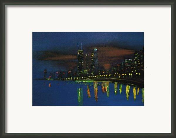 Chicago Impressionism Skyline Framed Print By Gregory Allen Page