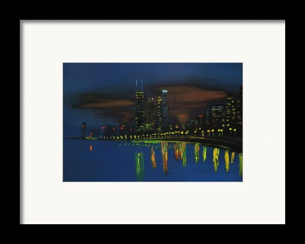 Chicago Impressionism Skyline Framed Print By Gregory Allen Page