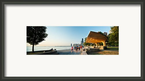Chicago Lakefront Panorama Framed Print By Steve Gadomski