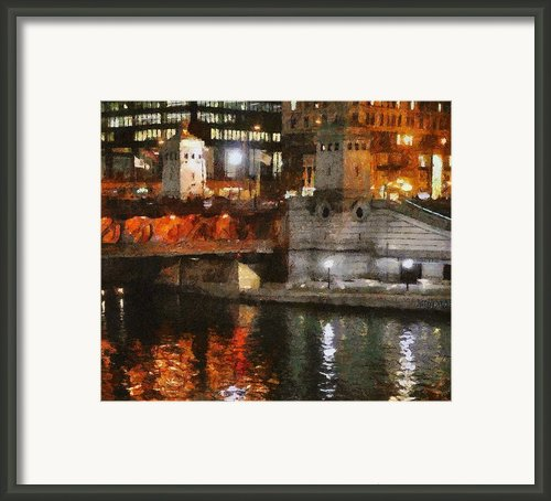 Chicago River At Michigan Avenue Framed Print By Jeff Kolker