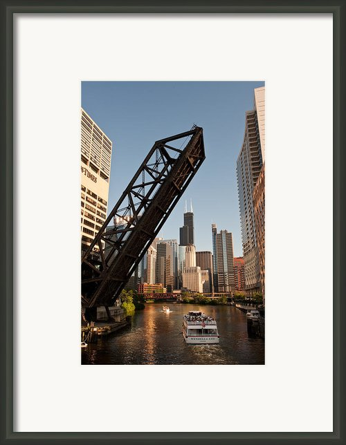 Chicago River Traffic Framed Print By Steve Gadomski
