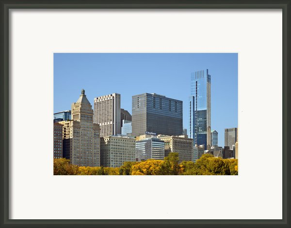 Chicago Skyline From Millenium Park Ii Framed Print By Christine Till