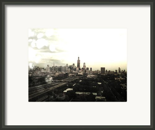 Chicago Skyline Framed Print By Mike Maher