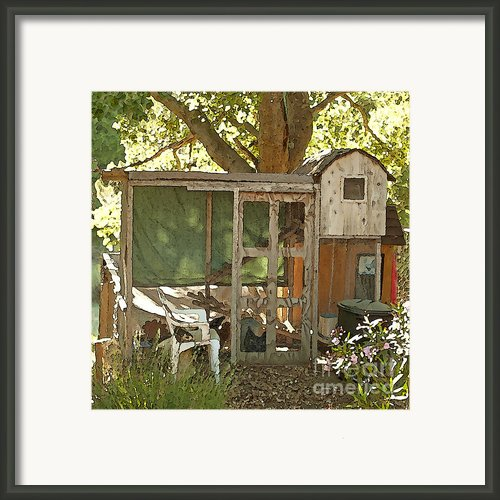 Chicken Coop On The Farm Framed Print By Author And Photographer Laura Wrede