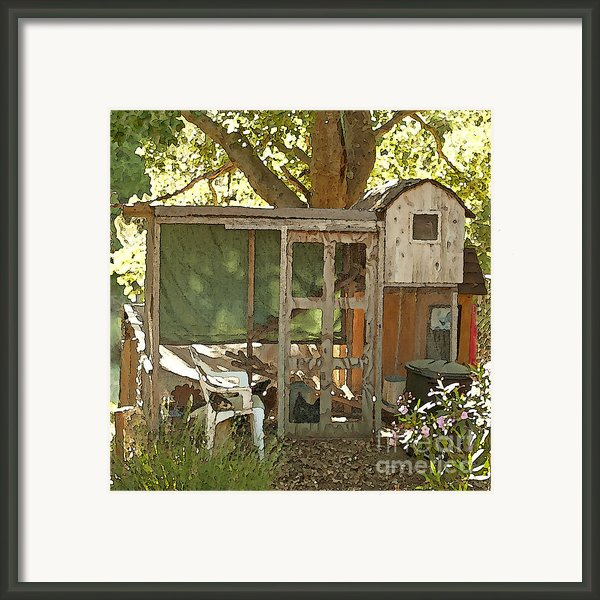 Chicken Coop On The Farm Framed Print By Artist And Photographer Laura Wrede