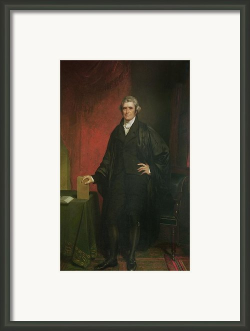 Chief Justice Marshall Framed Print By Chester Harding