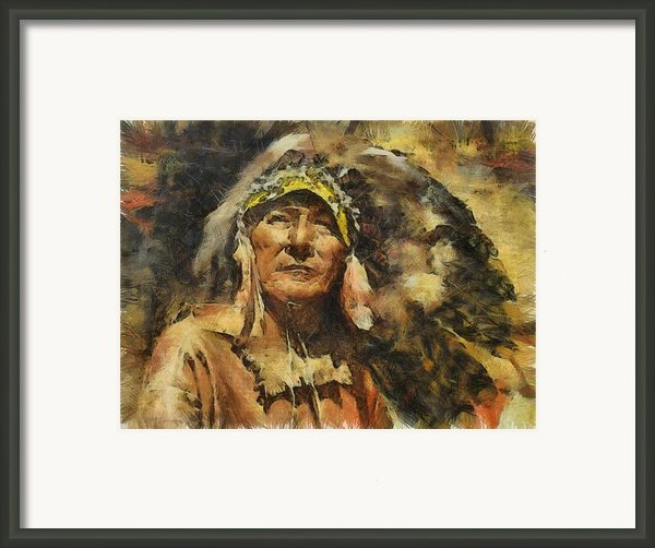 Chief Framed Print By Shimi Gasaba