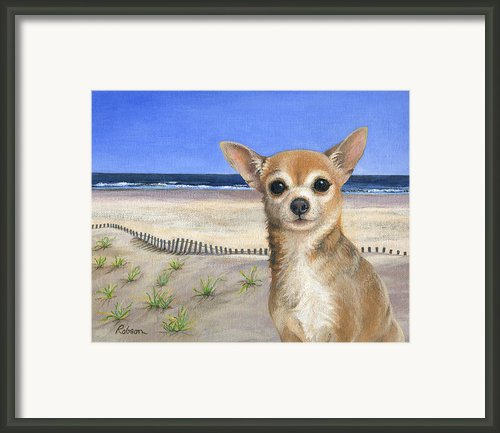 Chihuahua At Sea Isle City New Jersey Framed Print By Peggy Dreher