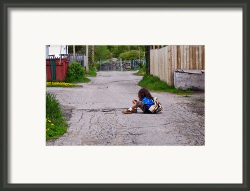 Child Framed Print By Daniel Martin