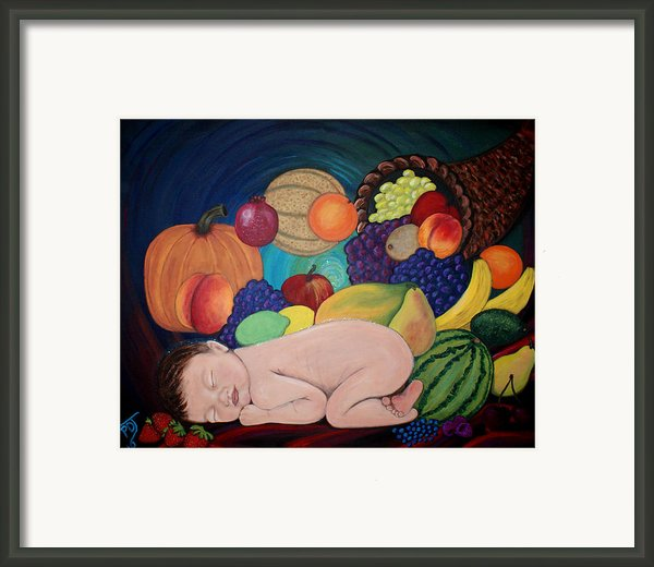 Child Of Plenty Framed Print By Pamorama Jones