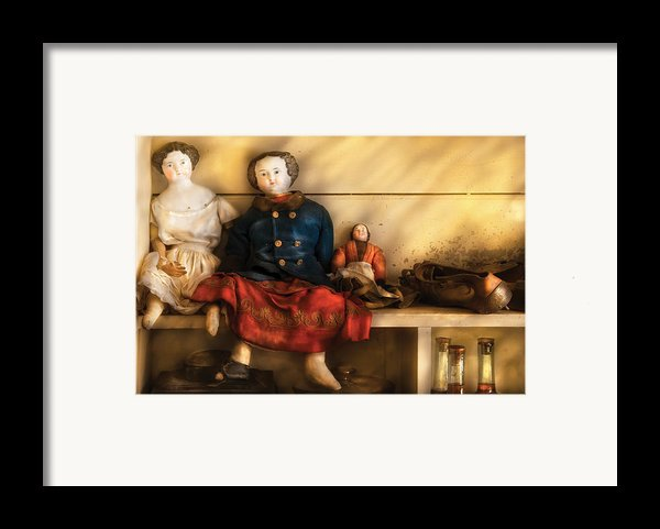 Children - Toys - Assorted Dolls Framed Print By Mike Savad
