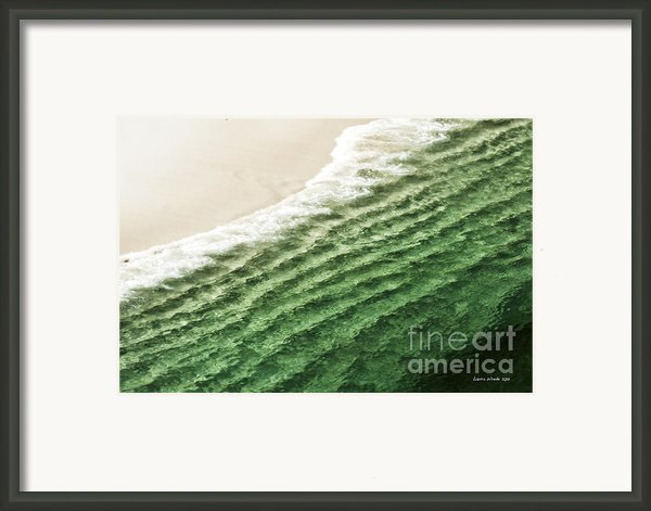 China Beach Wave Framed Print By Artist And Photographer Laura Wrede