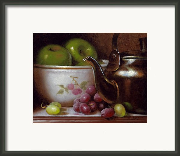 China Bowl And Teapot Framed Print By Timothy Jones