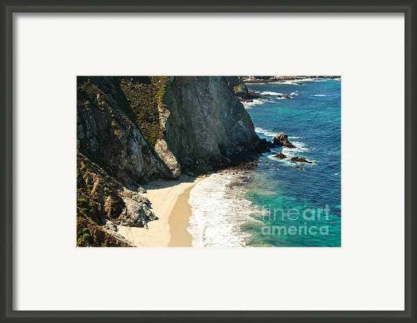 China Cove At Point Lobos State Beach Framed Print By Artist And Photographer Laura Wrede