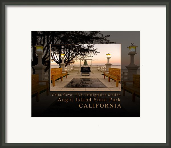 China Cove - Usis - United States Immigration Station Angel Island State Park California Framed Print By David Rigg