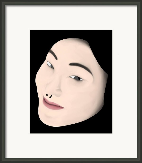 Chinese Girl Framed Print By Sara Ponte
