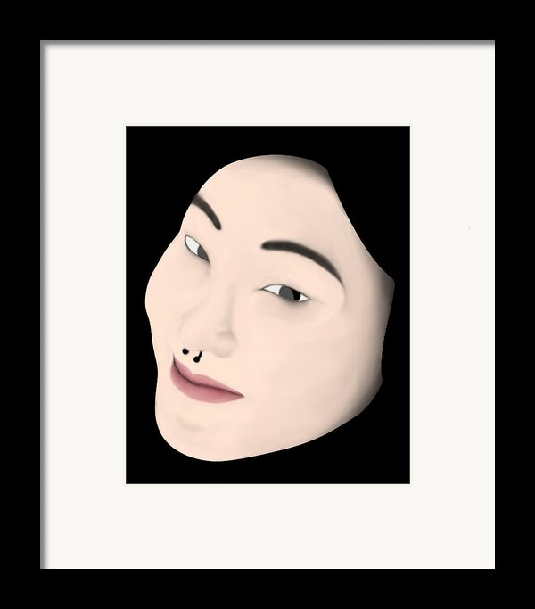 Chinese Girl Framed Print By Sara Ponte