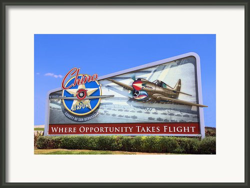 Chino Airport Framed Print By Viktor Savchenko