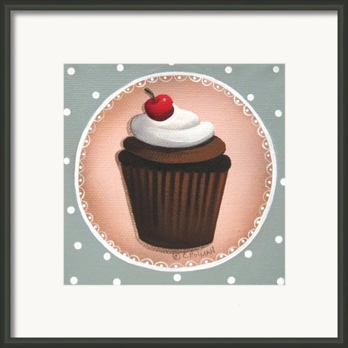 Chocolate Cherry Chip Cupcake Framed Print By Catherine Holman
