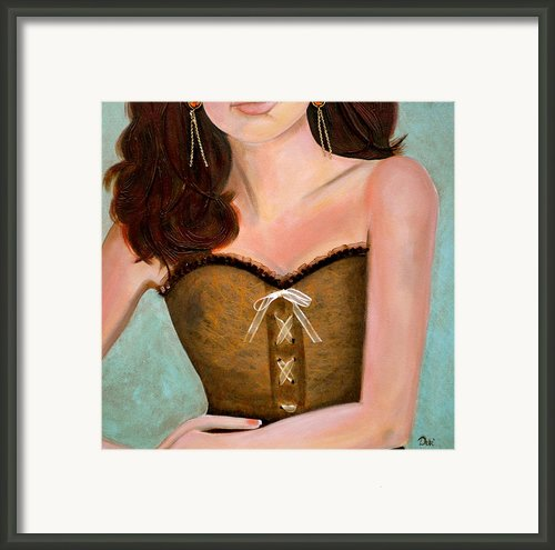 Chocolate Romance Framed Print By Debi Pople