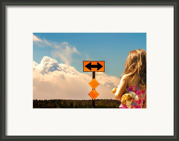 Choices Framed Print By Bob Orsillo