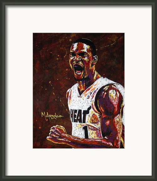 Chris Bosh Framed Print By Maria Arango