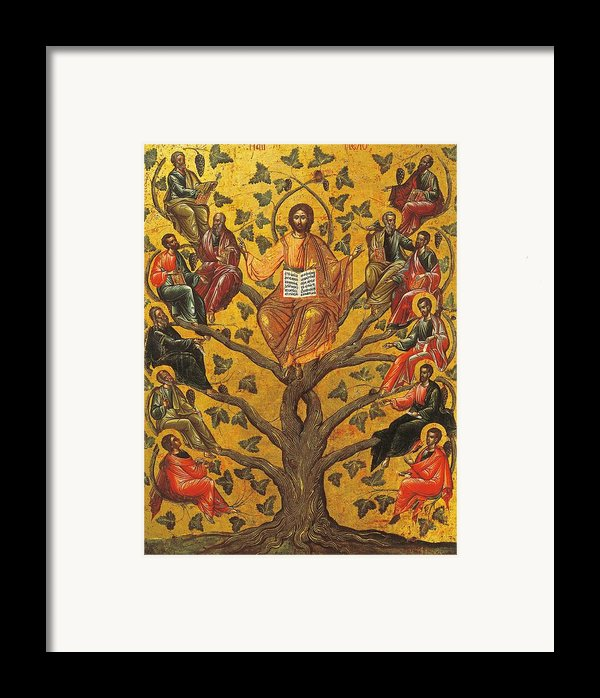 Christ And The Apostles Framed Print By Unknown