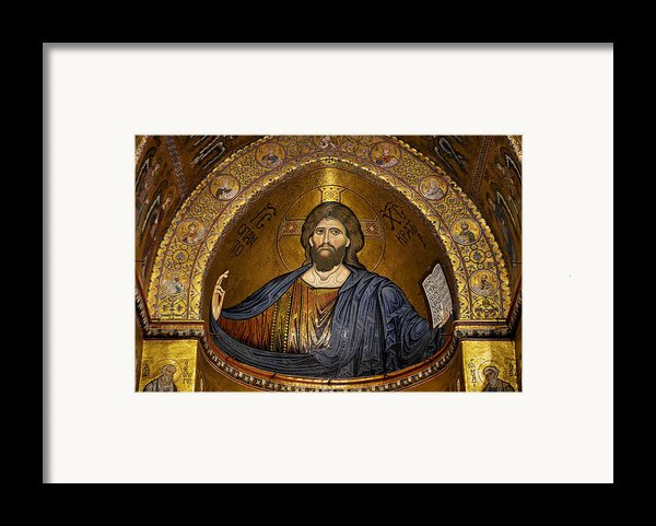 Christ Pantocrator Mosaic Framed Print By Ricardmn Photography