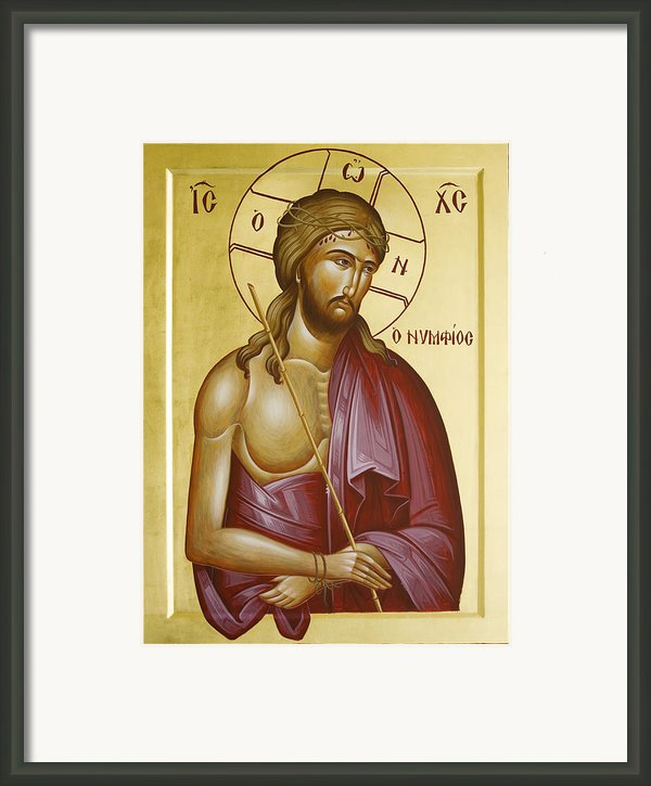 Christ The Bridegroom Framed Print By Julia Bridget Hayes