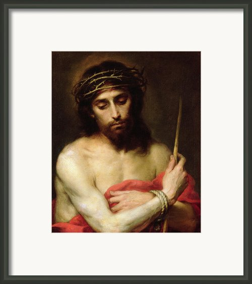 Christ The Man Of Sorrows Framed Print By Bartolome Esteban Murillo