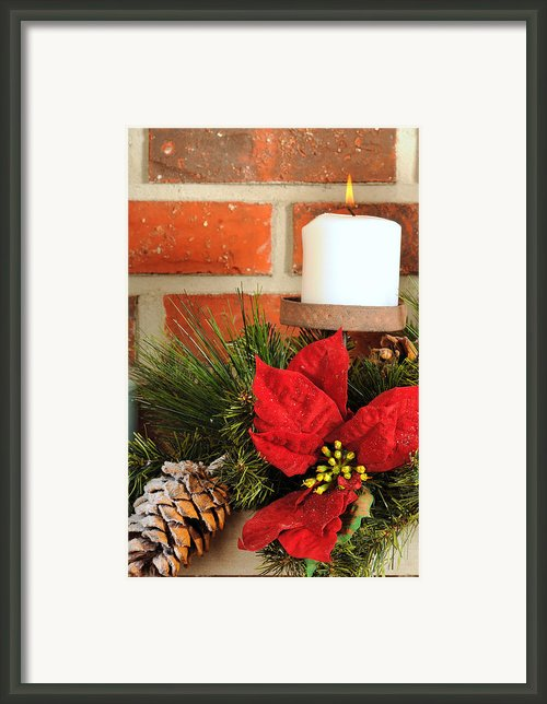 Christmas Candle Framed Print By Kenneth Sponsler