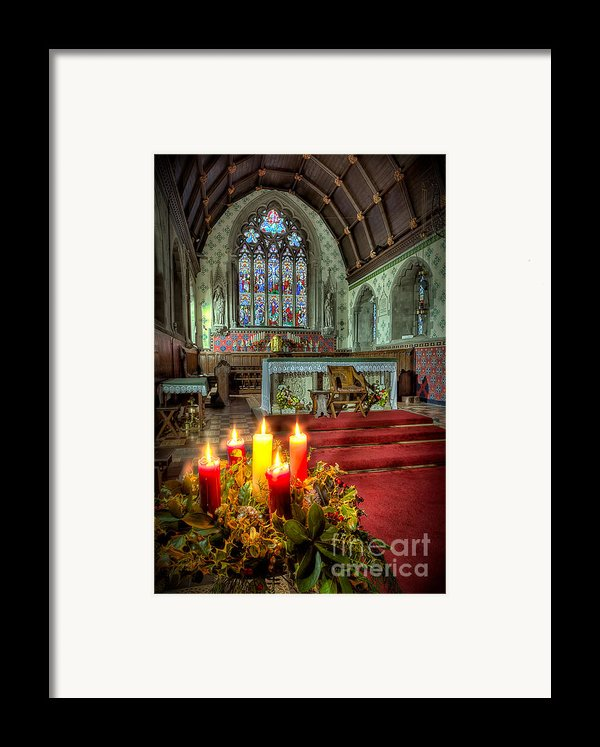 Christmas Candles Framed Print By Adrian Evans