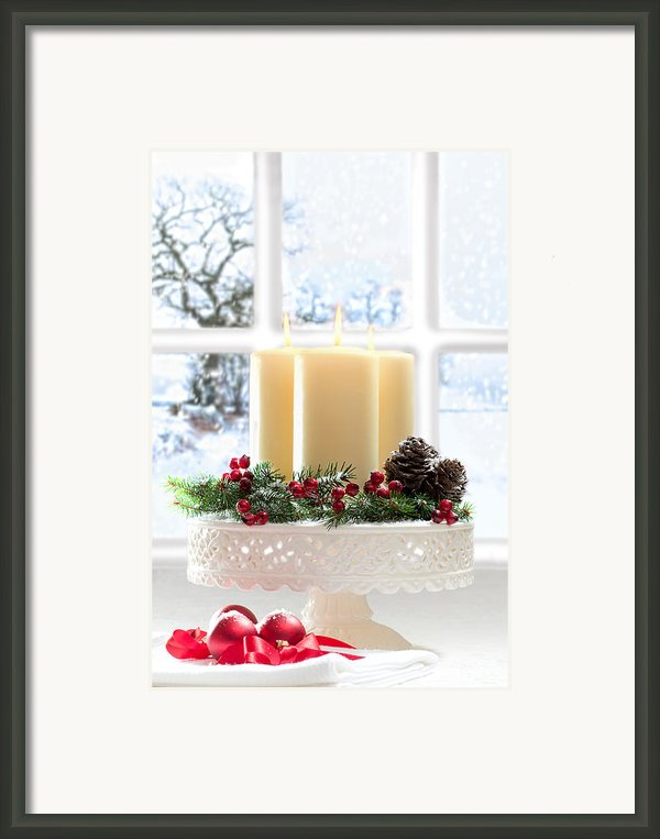 Christmas Candles Display Framed Print By Christopher And Amanda Elwell