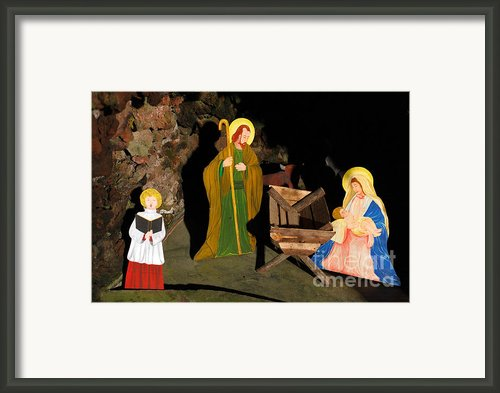 Christmas Crib Scene Framed Print By Gaspar Avila
