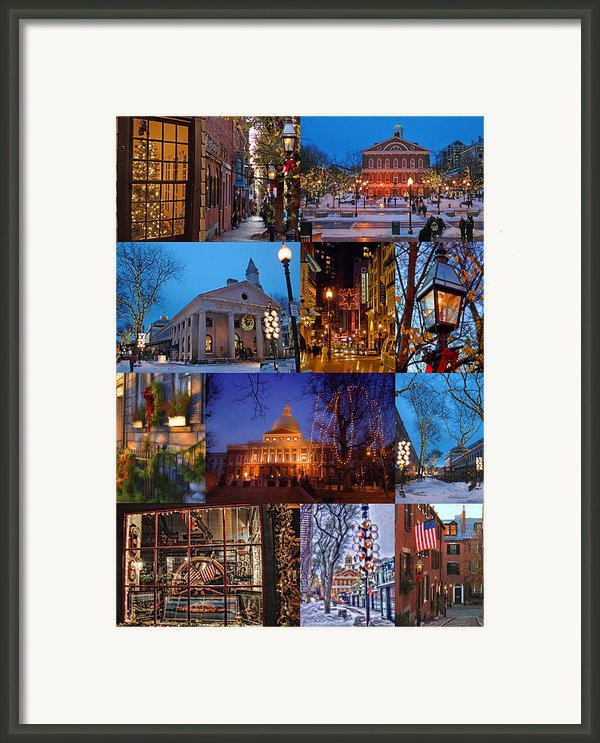 Christmas In Boston Framed Print By Joann Vitali
