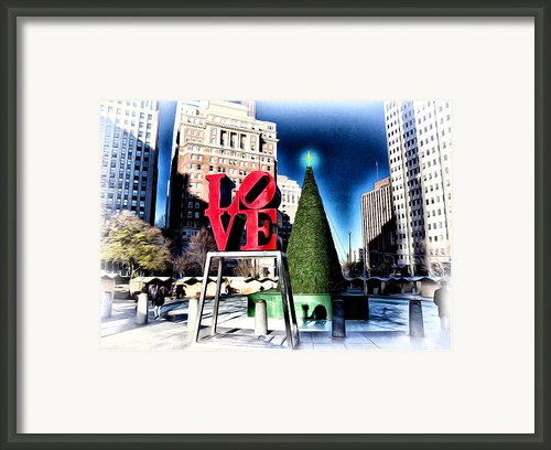 Christmas In Philadelphia Framed Print By Bill Cannon