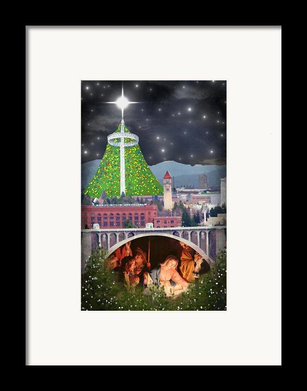 Christmas In Spokane Framed Print By Mark Armstrong