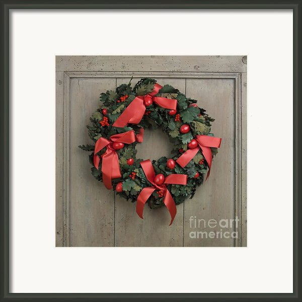 Christmas Wreath Framed Print By Bernard Jaubert