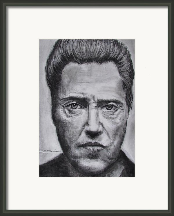 Christopher Walken Framed Print By Eric Dee