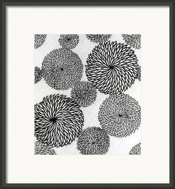 Chrysanthemums Framed Print By Japanese School