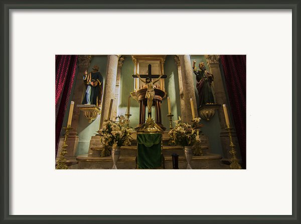 Church Altar Framed Print By Aged Pixel