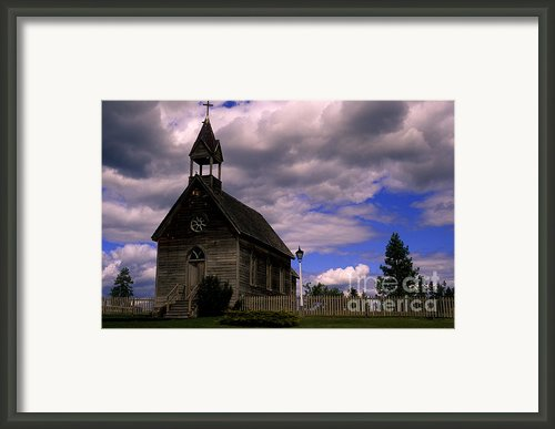 Church At The Okeefe Ranch Framed Print By Bob Christopher