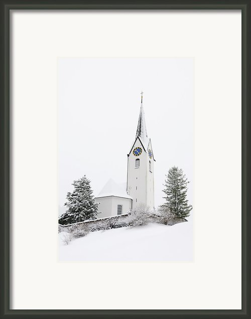 Church In Winter Framed Print By Matthias Hauser