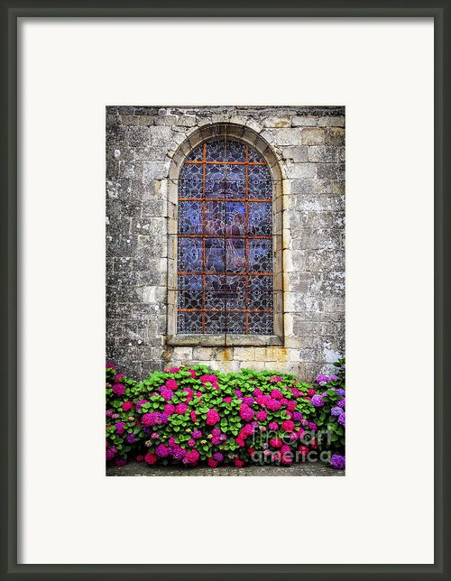 Church Window In Brittany Framed Print By Elena Elisseeva