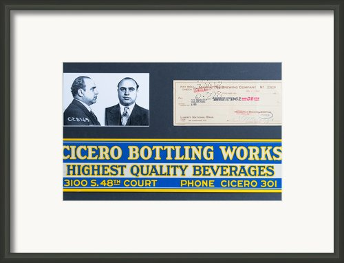 Cicero Bottling Works Chicago Brewing Framed Print By Kurt Olson